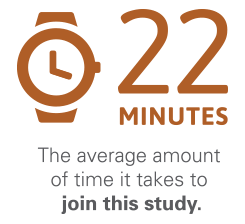 It takes 22 minutes to join the Healthy Aging Study and contribute to a large public health initiative